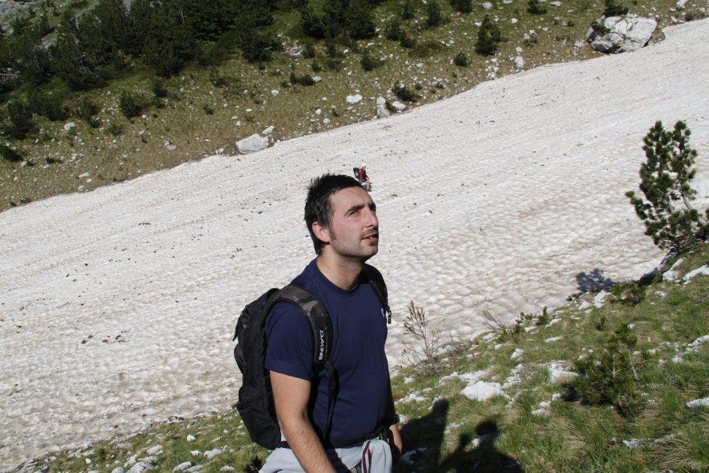 Glacier in Theth Valbona trail